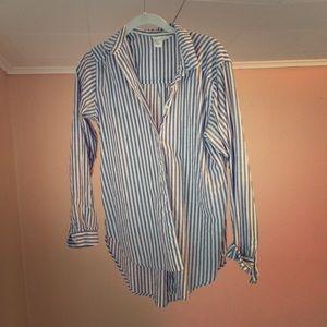 H&M | Cotton Button Down Striped Shirt